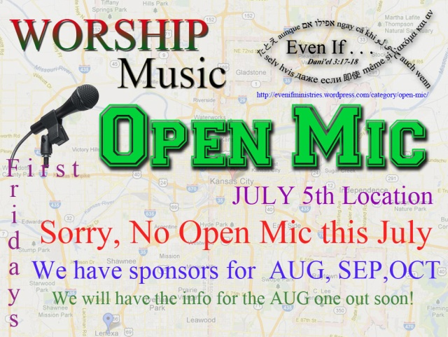No open Mic for July